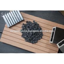 Composé en matière plastique en bois et en plastique pour plancher de bois