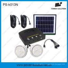4ВТ Портативные Миниые комплекты солнечной энергии с 2 светодиодные лампы