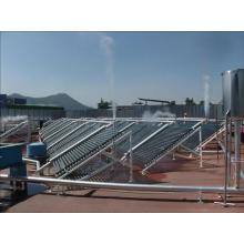 coletor solar não pressurizado para aplicação em larga escala