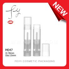 Novo e exclusivo tubo de bálsamo de lábio transparente