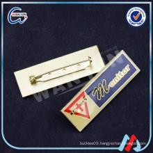 Rectangular Shape Custom Metal Pin Badge
