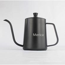 Pot de café noir en acier inoxydable non-stick de 600 ml