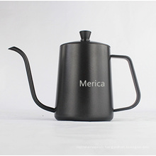 Black Color Non-Stick 600ml Stainless Steel Coffee Pot