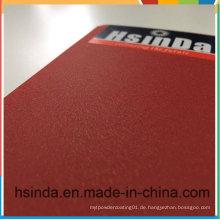 Hsinda Red Glitzernde Leder Silk Pulverbeschichtung
