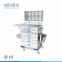AG-AT015 Powder coating steel nurse work instrument anaesthesia cart for surgical