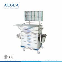 АГ-AT015 порошка покрывая стальная медсестра рабочий инструмент анестезия тележка для хирургических