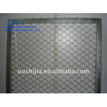 stainless steel wire netting/zoo enclosure wire mesh/stainless steel cable netting