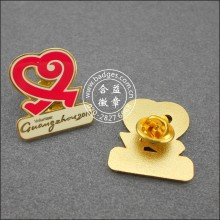 Heart Shape Volunteer Badge, Custom Lapel Pin (GZHY-LP-045)