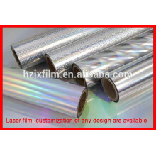 pet lamination roll film/transparent holographic lamination film/id card lamination film