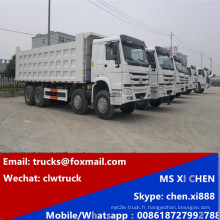 30-50 tonnes Sinotruk 8 X 4 LHD HOWO camion à benne basculante à vendre