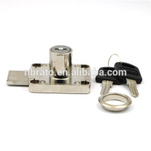 Zinc Alloy Nickel Finish Long Latch Safety Drawer Lock