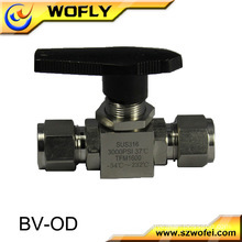 high pressure stainless steel oil and gas media single ferrule ball valve