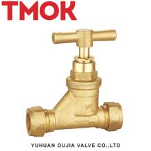 montagem de vapor de alta qualidade desenho escondido latão válvula de parada