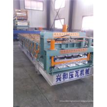 Nouveau type de machine de fabrication de tuiles trapézoïdales et vitrées à double couche