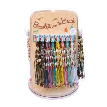Boutique de bijoux rotatifs de qualité Prymaid en bois comptoir Bracelet Diy Bracelet avec logo