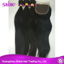 Virgin Indian Straight Hair Closure With Baby Hair