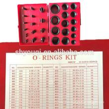 NBR70 резиновые уплотнения o кольцо комплект 382pcs с 30 размеры механической коробкой НБР ремонт уплотнительных колец для герметизации уплотнительное кольцо набор