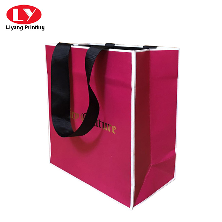 Gold Foil Logo Paper Bag