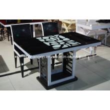 2015 году новый дизайн горячей продажи стеклянный обеденный стол (CX-D-02)