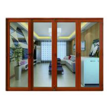 Puertas plegables interiores de aleación de aluminio baratas de diseño americano