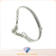 Brazalete de cristal austríaco de lujo hermoso brazalete de plata de la joyería del diseño 925 (g41252)