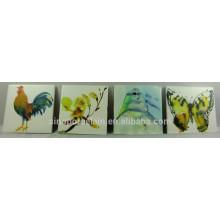 Coaster carré en céramique avec beau design pour BS140813B
