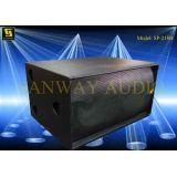 Dual 18'' Audio Speaker Cabinets , Outdoor Subwoofer Speaker Box