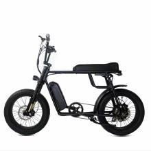 Classical 20 Inch Fat Tire Vintage 2 Seat Electric Bike Retro Style E-Bike