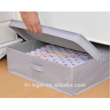 Foldable Natural polyester Canvas Storage Box, Convenient Storage Box with Lid