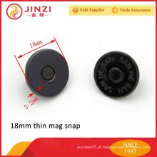 Botão de ímã de cor de arma de 18mm e fivelas para bolsas de couro