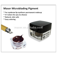 Manual Profissional Permanente Maquiagem Sobrancelha Tattoo Pigmento Pasta Microblading Use Only