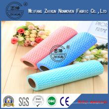 Tissu non-tissé hydrophile de Spunlace pour des lingettes de nettoyage