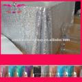 Novo barato Hot sale fantasia 100% poliéster bordado seqüência metálica casamento prato de mesa de lantejoulas de prata