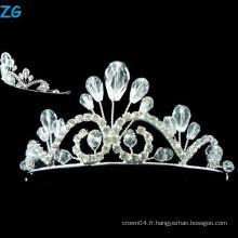 Élégant A Level Crystal petite princesse tiare cristal beauté Accueil tiaras