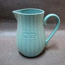Embossed Ceramic Water Juice Milk Pitcher