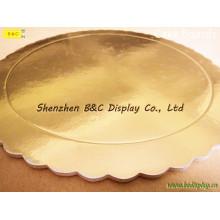 Placas cinzentas do bolo da placa do fornecedor do moinho com bordas da flor com GV (B & C-K074)