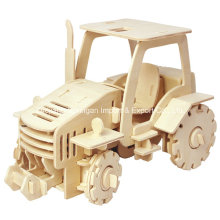 Boutique Colourless Wood Toy Vehicles-Tractor