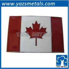 personalize fivelas de cinto de bandeira, fivela de cinto feita sob encomenda da bandeira do Canadá