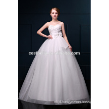 Newest Design Elegant Sweetheart Neckline Organza Bridal Wedding Dresses