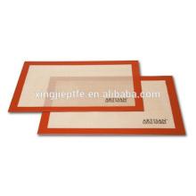 2015 Novos produtos retangular non stick silicone cozer tapetes