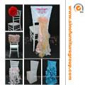 Cobertura de cadeira de casamento elegante e luxuosa