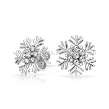 Regalo para novia Cubic Zirconia Snowflake Stud Earrings Fabricante