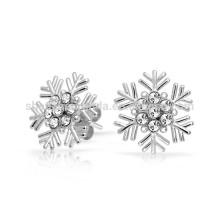 Cadeau pour petite amie Cubic Zirconia Snowflake Stud Earrings Fabricant