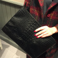 Fashionista Crocodile Pattern Oversize Envelope Clutch Väskor