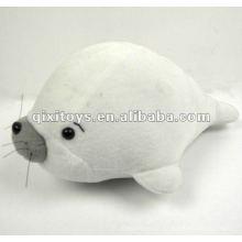 100% coton adorable en peluche peluche blanc dauphin