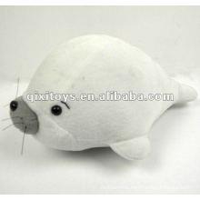 100%lovely cotton stuffed plush white dolphin