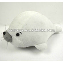 100% algodão lindo recheado golfinho branco de pelúcia