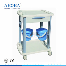AG-CT001B3 approved ABS clinic dressing trolley mobile medical crash carts
