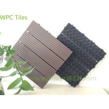 Pavage DIY de terrasse de piscine 300 * 300mm / WPC s'emboîtant des tuiles de plate-forme