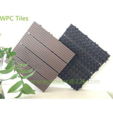 Swimmingpool-Pflasterstein-DIY Decking 300 * 300mm / WPC ineinandergreifende Plattform-Fliesen